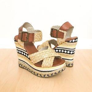 NIB MIA Fareena Wedge Sandals